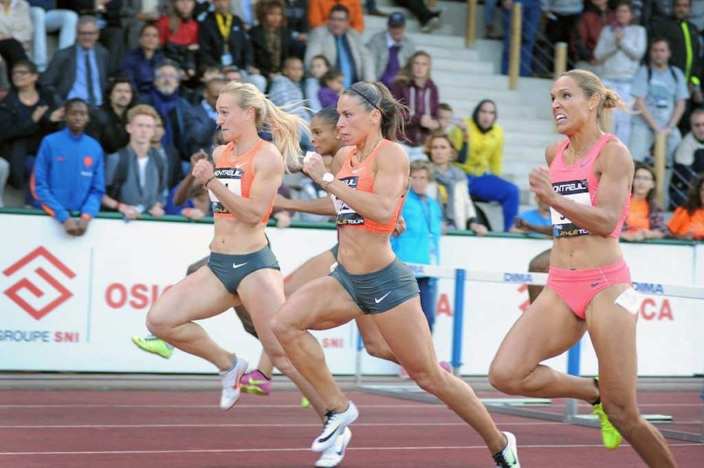 Lolo Jones et Cindy Billaud sur 100m haies