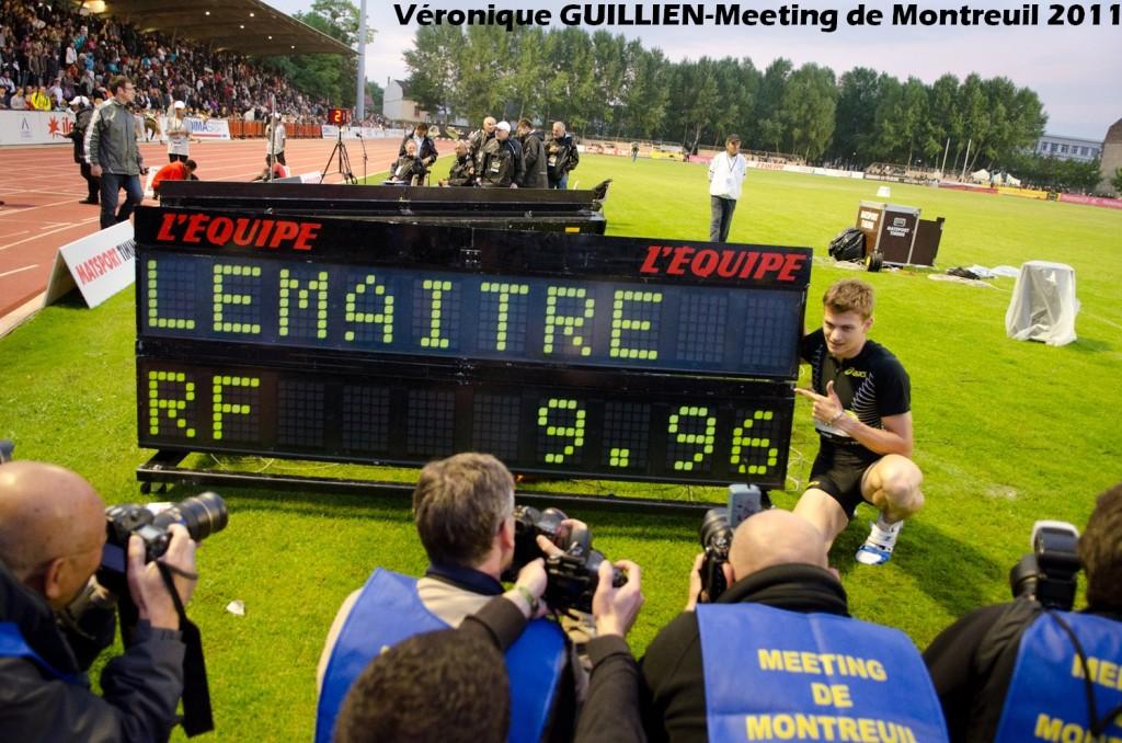 Christophe Lemaitre bat le record de France du 100 mètres en 9''96