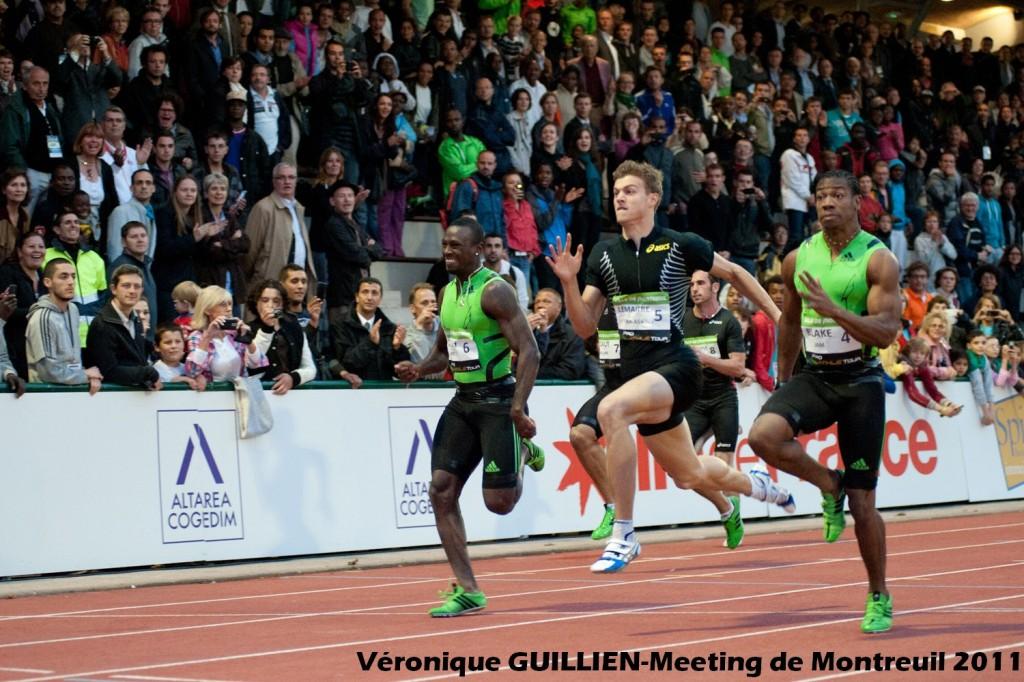 Yohan Blake remporte le 100 mètres devant Christophe Lemaitre
