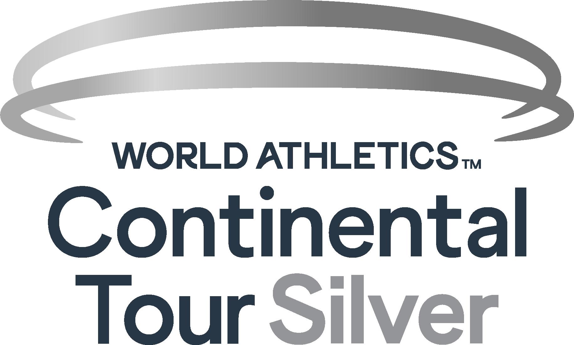 Logo - World Athletics Continental Tour Silver